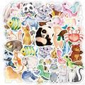 Животные милые наклейки из мультфильмов собака Кот наклейка в форме свиньи аниме пакет для катания на скейтборде телефон гитары автомобиль...