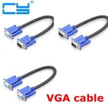30 cm 50cm HD15Pin VGA D sub cabo Curto wideo Macho dla Macho M/M dla monitora