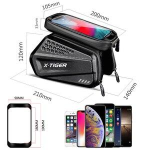 Image 5 - X TIGER防雨自転車バッグバイクバッグタッチスクリーン電話ケースサイクリングバッグmtbバイク自転車トップチューブハンドルバー自転車バッグ