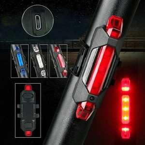 Bicycle-Taillight Waterproof-Light Usb-Tail Safety Warning Rechargeable