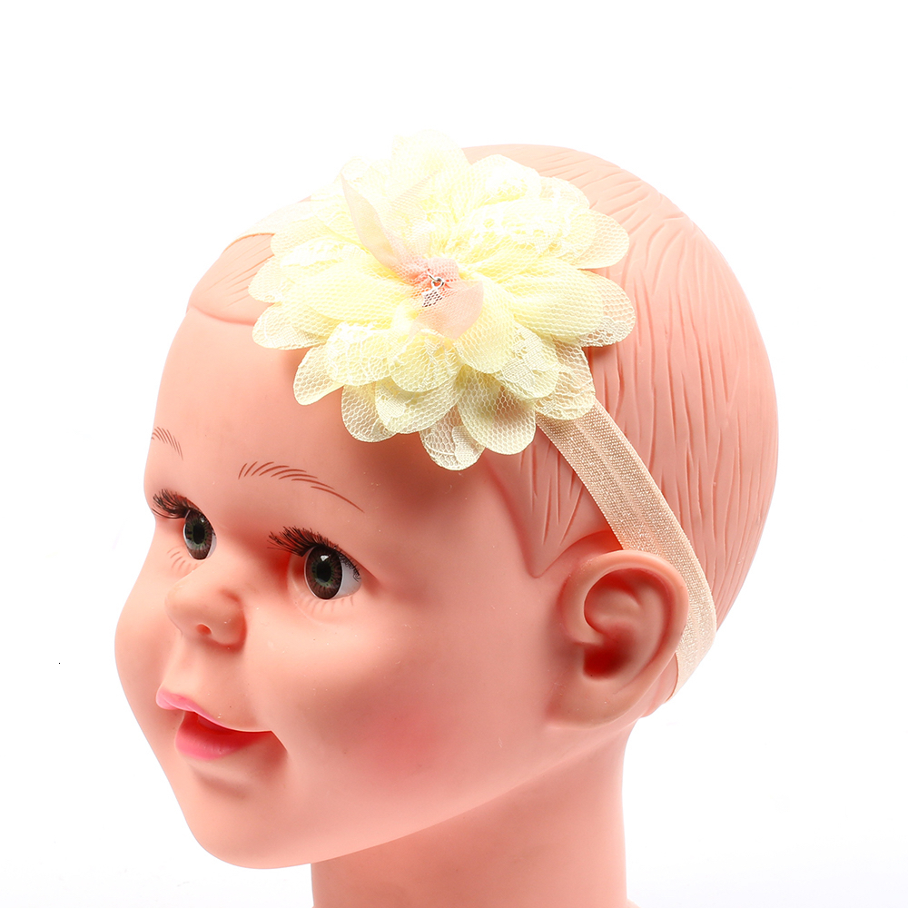baby girl headband Infant hair accessories clothes band Floral newborn Headwear Elastic headwrap hairband Gift Toddlers