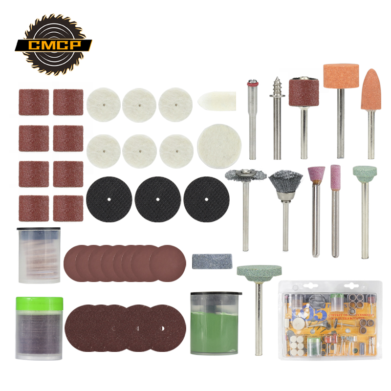 CMCP 105pcs Rotary Tool Accessories Kit For Grinding Sanding Polishing And Cutting Mini Drill Abrasive Tools
