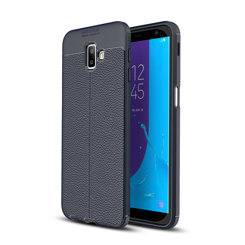Shockproof Protection TPU Soft Case For Samsung Galaxy J8 J6 Plus J5 J7 2017 J4 J3 2018 A7 Slim Litchi Leather Skin Back Cover in Fitted Cases from Cellphones Telecommunications