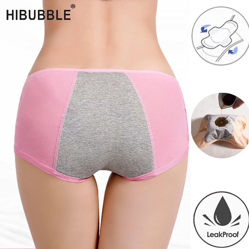 New Cotton Leak Proof Menstrual Panties Breathable Physiological Pants Women Underwear Period Waterproof Briefs Plus Size M-3XL