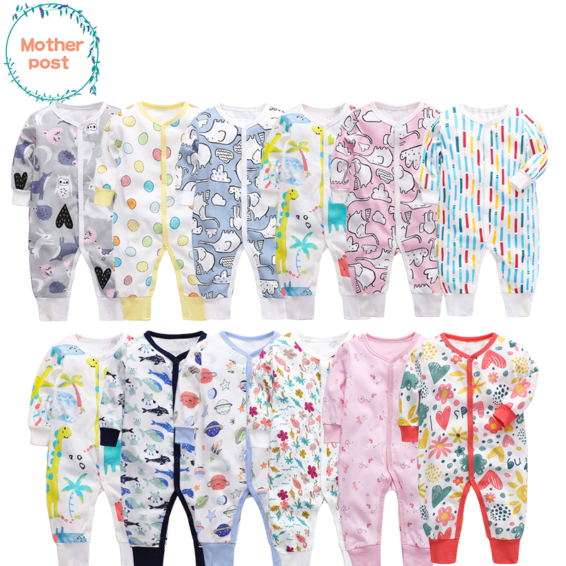 Kawaii Cat Newborn Baby Boy Girl Romper Jumpsuit Long Sleeve Bodysuit Overalls Outfits Clothes
