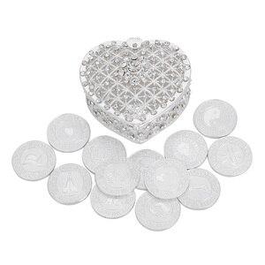 Image 1 - Серебряные английские свадебные серьги, монеты с подарочной коробкой, филиппинские серьги, Свадебный комплект монет, свадебная церемония, свадебные украшения для невесты