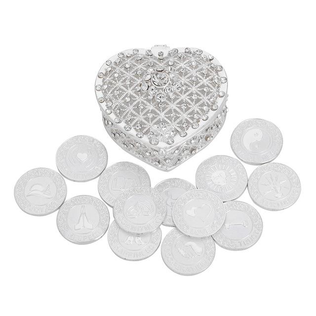 Серебряные английские свадебные серьги, монеты с подарочной коробкой, филиппинские серьги, Свадебный комплект монет, свадебная церемония, свадебные украшения для невесты