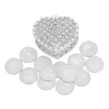 Prata inglês casamento arras moedas com caixa de presente filipino arrhae casamento unidade moedas conjunto spaish cerimônia de casamento noiva jóias