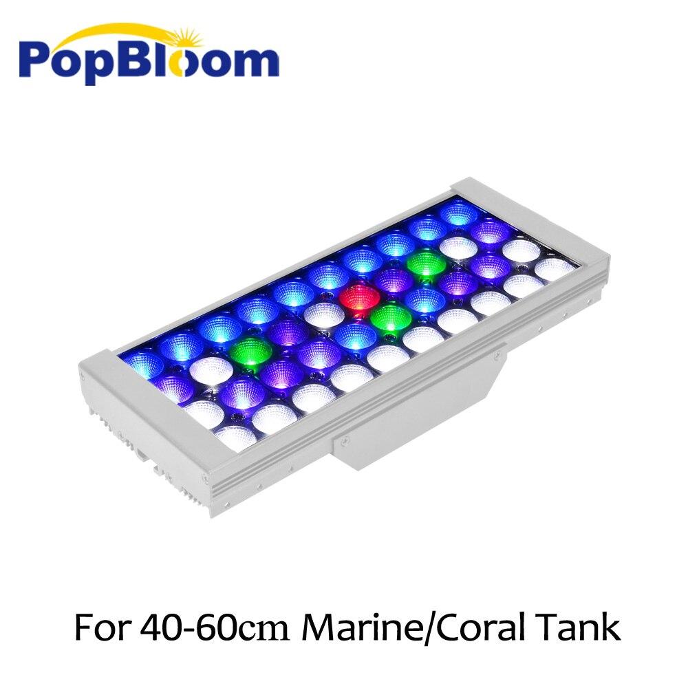 Lampe PopBloom pour éclairage de led pour aquarium lampe d'aquarium marine led éclairage lumière de réservoir de poisson lampe dimmable avec contrôleur MJ3SP1