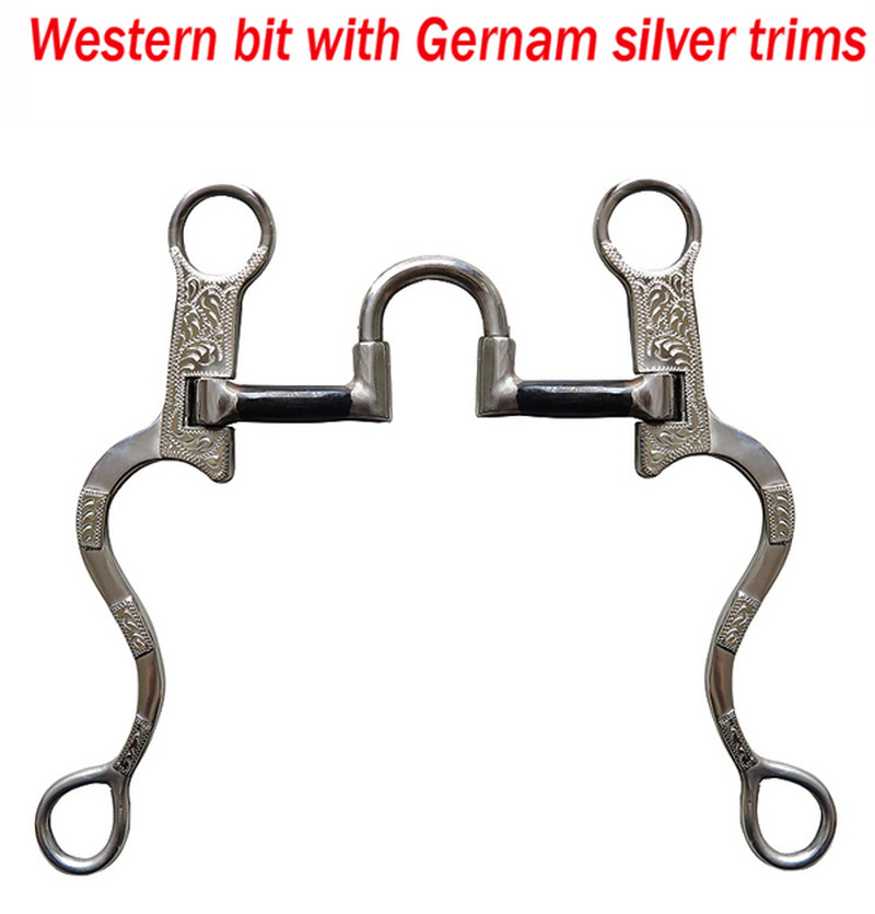 127mm/125mm High-quality Western Spurs Equestrian Horse Bits Stainless Steel Surface Inlaid With Carved Silver Riding Crop S