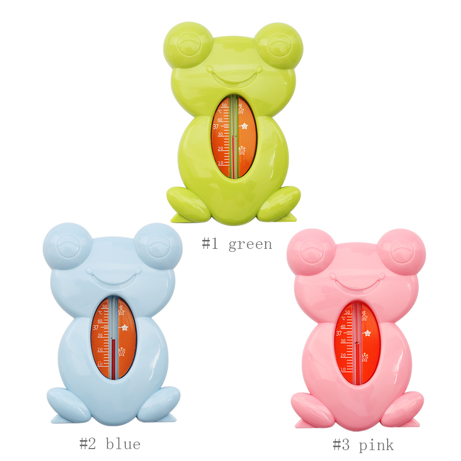 Cute Cartoon Frog Baby Thermometer Baby Bath Thermometer Toy Baby Plastic Bath Tank Water Temperature Sensor