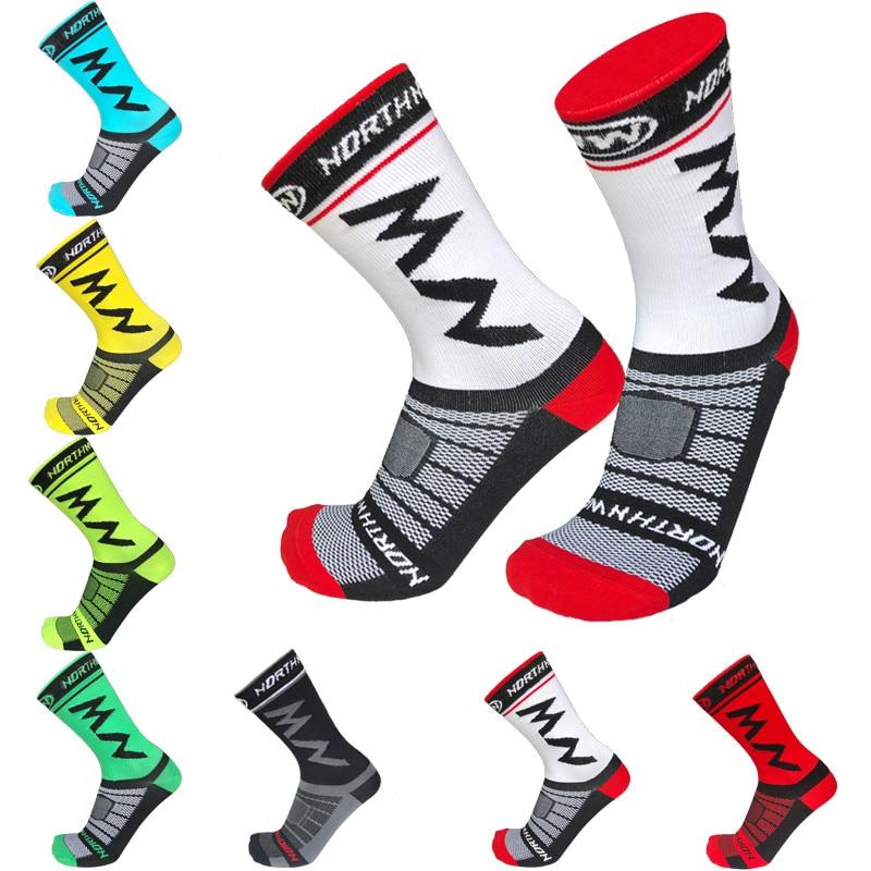 7 Colors Pro Team Men Women Cycling Socks Outdoor Sports Mountain Bike Racing Socks Breathable Road Bicycle Socks