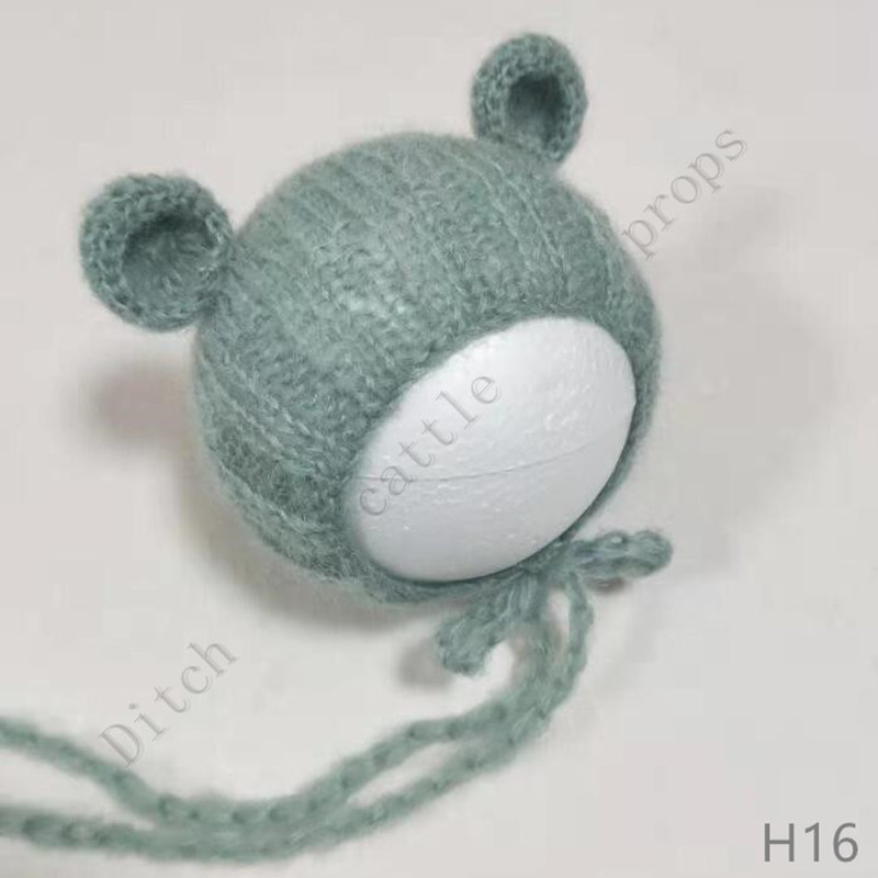 Chapéus de adereços para fotografia recém-nascida, adereços de tecido mohair, roupas de fotografia para recém-nascidos