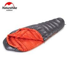 Nuevo saco de dormir Naturehike 90% relleno pluma de ganso momia gruesa a prueba de viento cálido invierno abajo saco de dormir ultraligero 800FP