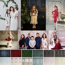 Dark Red Blue Retro ประตูการถ่ายภาพฉากหลังสำหรับครอบครัวเด็กวันเกิด Photocall งานแต่งงานภาพพื้นหลัง Photostudio