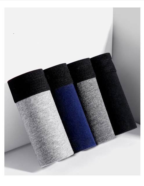 Male Panties Cotton Men's Underwear Boxers Breathable Man Boxer Solid Underpants Comfortable Brand Shorts