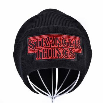 new Unisex Warm Beanine Winter Hat Dustin Stranger Things Dustin Black Knit Beanie Cap Hat Men Women Wool knit caps недорого