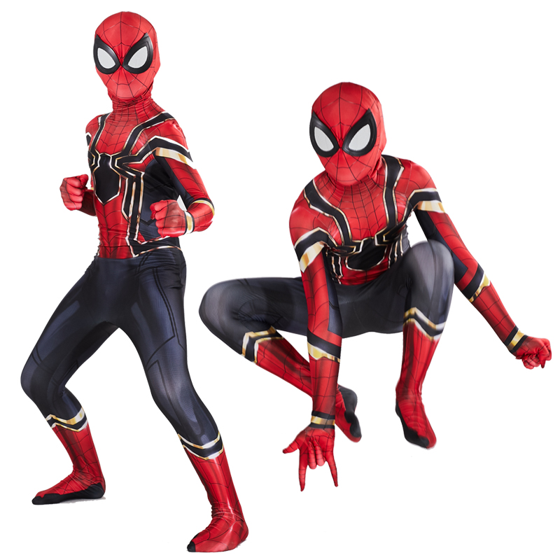 New Spider Man Far From Home Cosplay Costume Zentai Spiderman Superhero Bodysuit Spandex Suit for Adult/ Kids Custom Made 1