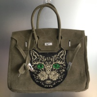 For Yama,35cm canvas bag with cat