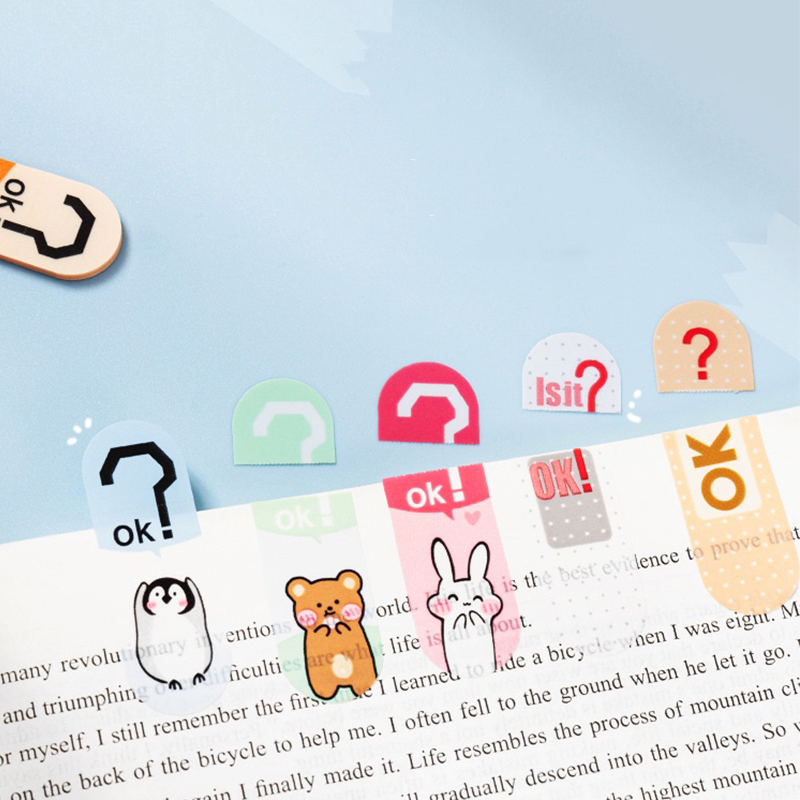 Kawaii post-it notes, high-value, tearable, waterproof, creative index mark stickers, sticky notes, full-adhesive cute memos