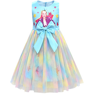 Image 4 - בנות Jojo סיווה שמלת בנות קשת Vestidos ילדים מסיבת יום הולדת שמלת ילדי שמלות בנות חג המולד JOJO סיווה נסיכת שמלה