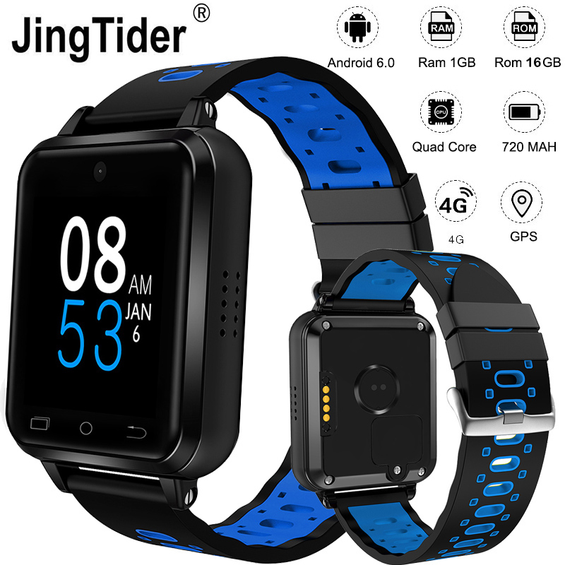 "Upgraded Q2 FDD LTE 4G Smart Watch 1GB/16GB MTK6737 Quad Core 1.54"" Wrist Watch Phone 720 mAh Android 6.0 Heart Rate Monitor"