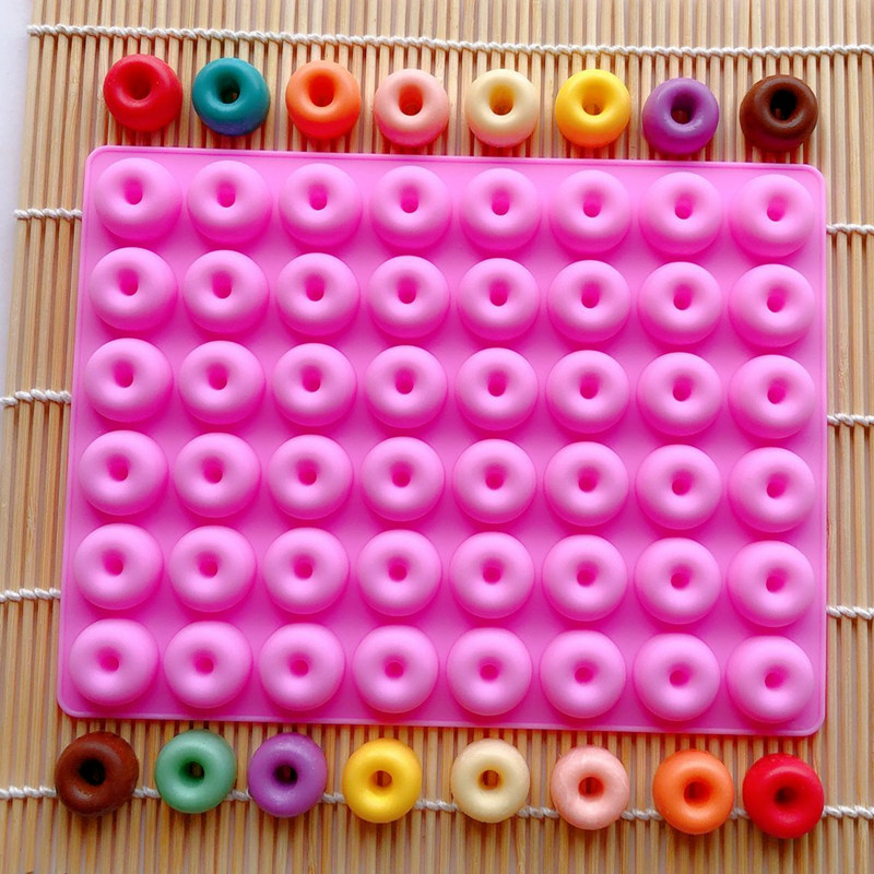 48-Cavity Mini Donut Silicone Mold Bakeware Silicone Chocolate Mold Donut Baking Pan Baking Tray Maker For Biscuit Bagels Km246