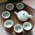 Китайский кунг-фу чайный набор  портативный керамический фарфоровый чайный набор  чайный чайник  чайные чашки  чайная церемония  домашний д...