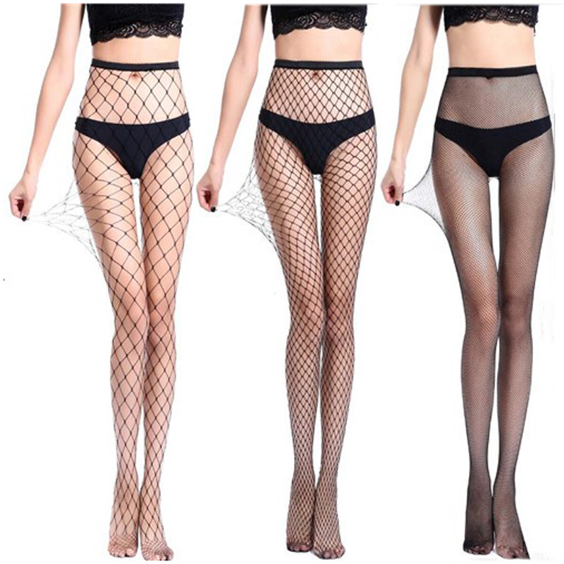 Sexy Women Pantyhose Fishnet Stockings Lingerie Small Middle Big Mesh Fish Nets Tights Anti Hook Nylon Collant Panty Tights
