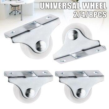 Trilho branco rodízios fixos pequeno 1-way roda móveis de plástico direcional roda resistente ao desgaste yu-casa