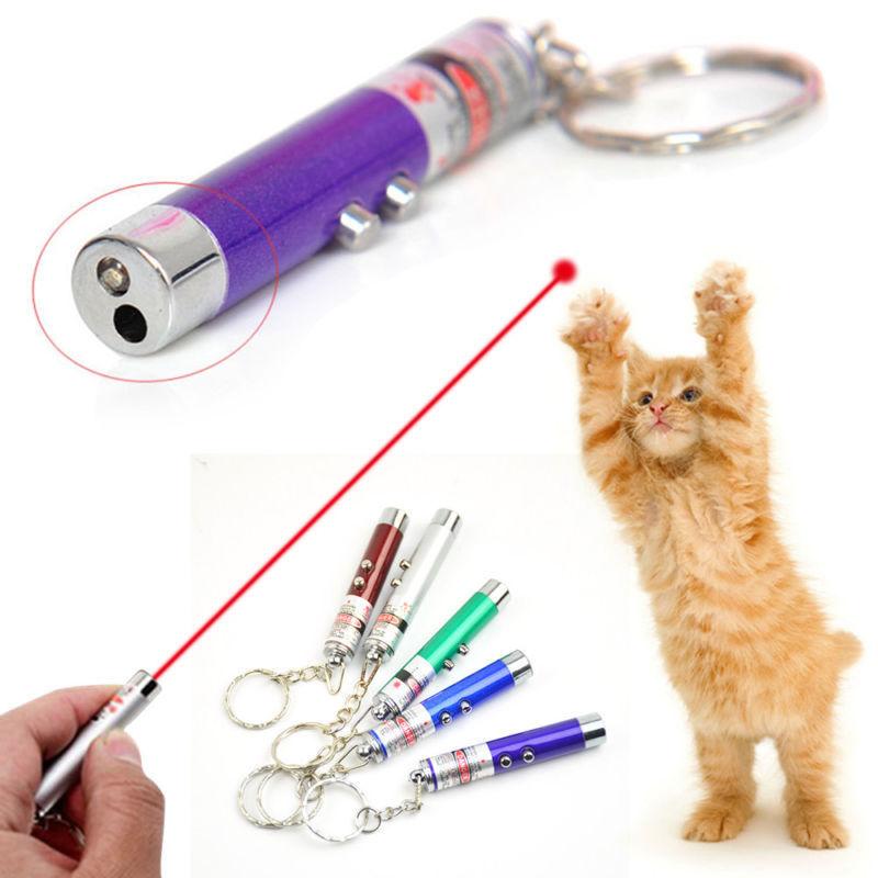 Láser LED de punto rojo de 5MW para gatos, juguete para gatos, punto de luz, 530Nm, 405Nm, 650Nm, puntero láser interactivo, suministros para mascotas, juguetes de Color aleatorio
