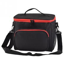 Lunch Bag Warm With Shoulder Strap Solid Color Meal School Outdoor Oxford Cloth