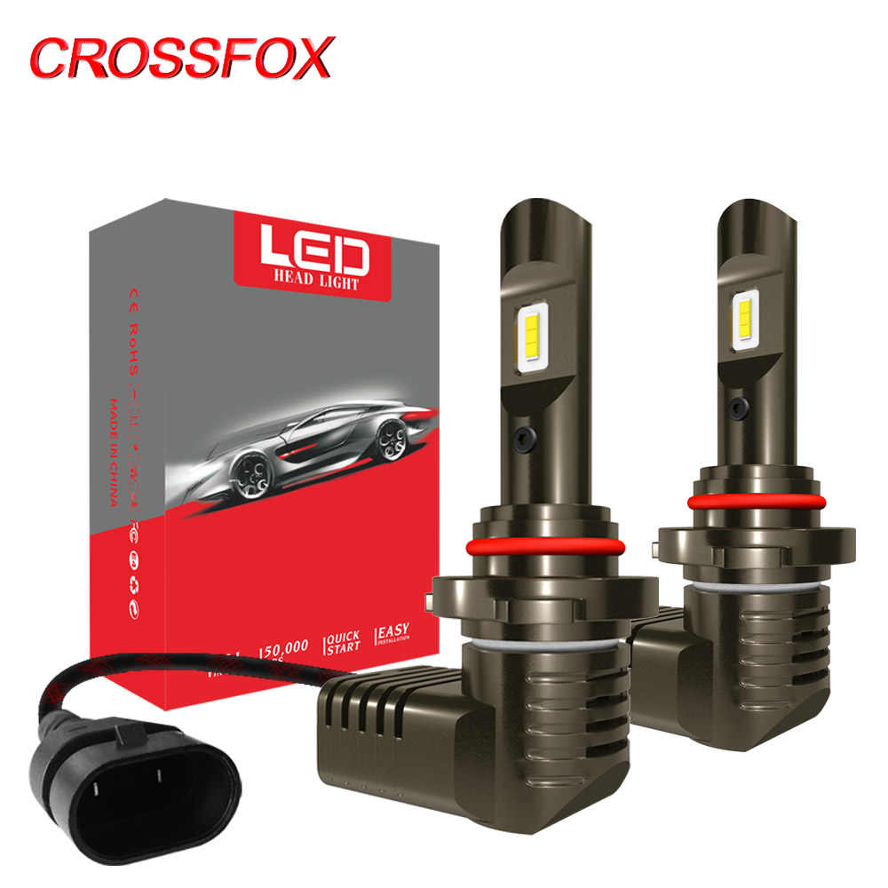 CROSSFOX Lamp H7 LED H4 H11 50W 12V 10000LM H8 H9 9005 hb3 9006 hb4 Car Led Headlights 6000K Auto Light Bulbs High Low Beam