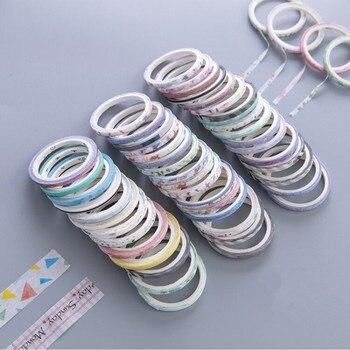 1セットかわいい和紙テープセット子供用マスキングテープDIY装飾プランナー日記スプリットラインテープスクラップブッキングフォトアブラム1