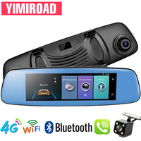 YIMIROAD H2 Parking Monitor 4G Rear View Mirror Reverse Camera GPS Navigator Auto Recorder Car Dvr Full HD 1080P ADAS Dash Cam