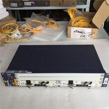 100% nowy oryginalny ZTE OLT ZXA10 C320 2U linia optyczna Terminal sprzęt, GPON 1GE SXMA A10 * 2 karty z DC zasilacz