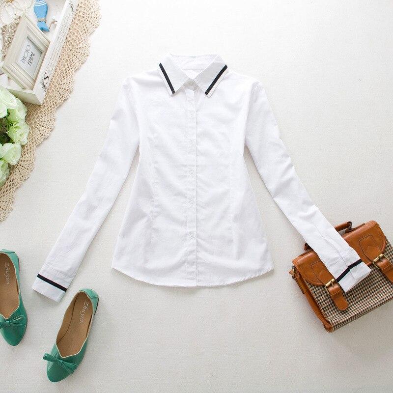 School Uniform England College Style GIRL'S School Uniform White Slim Models Shirt Business Attire School Uniform Manufacturers