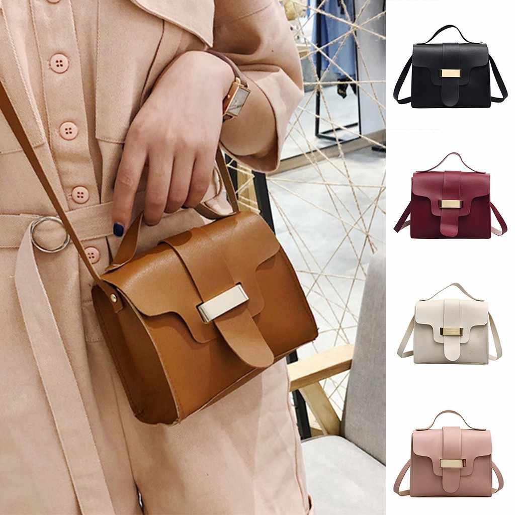 2019 yeni kadın Retro günlük rahat kılıf Retro rahat bayanlar cep telefonu çantası vahşi küçük kare Vintage deri çanta çanta