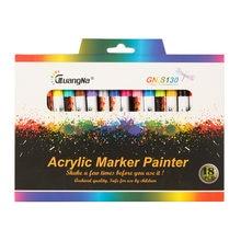 GN 12/18 couleurs 0.7mm acrylique peinture marqueur stylo Art marqueur stylo pour céramique roche verre porcelaine tasse bois tissu toile peinture