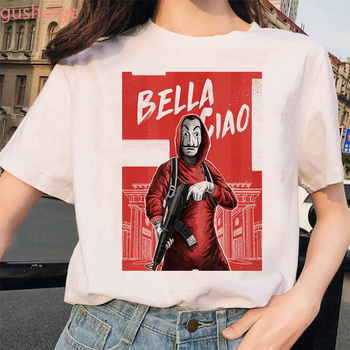 New Money Heist Tshirt The House of Paper La Casa De Papel T Shirt Women Summer Casual Dali Mask Casa De Papel T-shirt