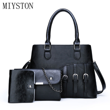 3pcs/set Composite Bag 2019 Famous Brand Women Handbags High Quality Patent Leather Vintage Ladies Shoulder Bags