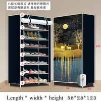 الغبار رفوف الأحذية المنزلية المنظم متعددة الطبقات رف الحذاء حامل حامل الباب رف الأحذية توفير مساحة تخزين خزانة المنزل-في خزائن الأحذية من الأثاث على