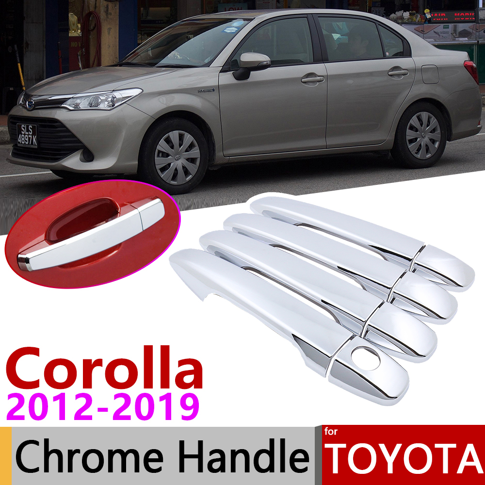A Model ABS Chromed Door Handle Cover Trim 8pcs Exterior Trim Car Styling Accessories For Volkswagen VW Tiguan Second Generation 2017 2018