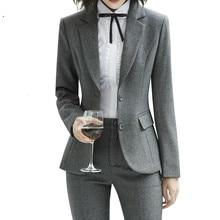 Модные тонкие костюмы Два вместе Рабочая женская одежда куртка с длинными рукавами брюки офисные женские топы и блузки для беременных