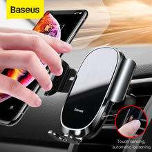 Baseus Auto locked Car Phone Holder Gravity Sensor Mobile Phone Holder in car For iPhone Xs Max XR Car smartphone support holder
