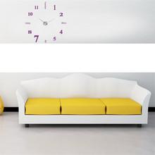 Zegar ścienny zegar ścienny nowoczesny Design Reloj Pared akrylowy nowoczesny zegar ścienny diy 3D naklejane lustra na powierzchnie dekoracje do domowego biura-fioletowy tanie tanio Mnycxen Akrylowe Salon Streszczenie Igła 13cm Antique style Pojedyncze twarzy Wielu częściowy zestaw 130mm circular Nowoczesne