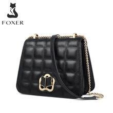 Foxer мини сумки через плечо с цепочкой женская сумка из спилка