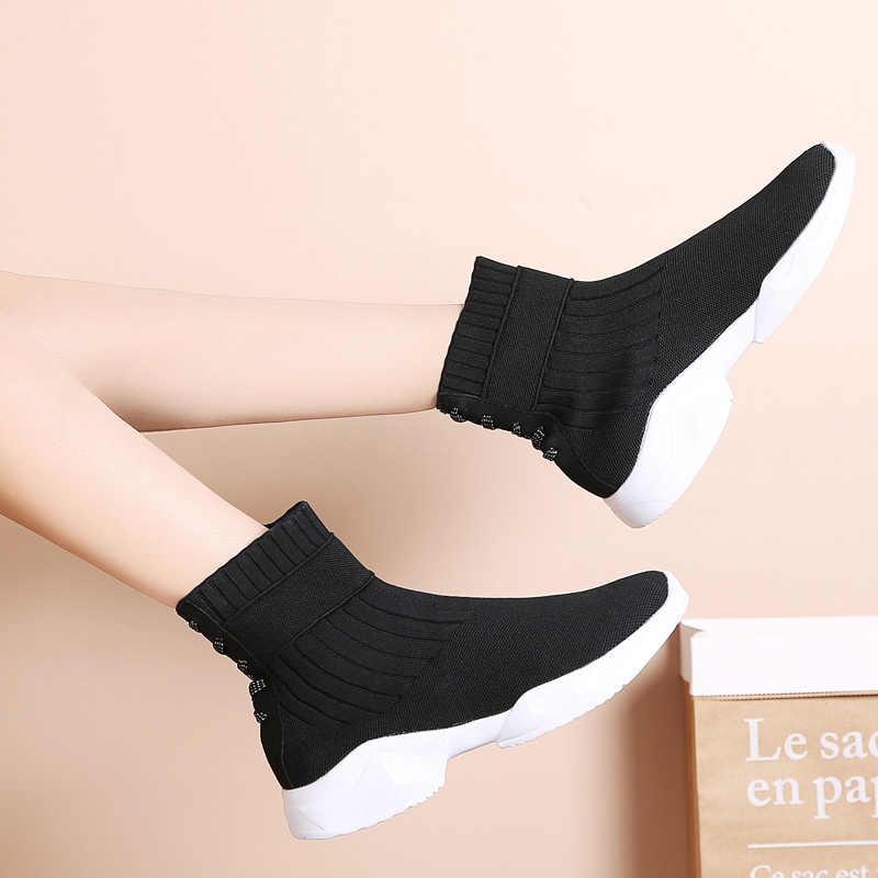 Kadın kış botları su geçirmez ayakkabı kadın kar botları sıcak tutmak uyluk yüksek çizmeler kış çizmeler kalın kürk yüksek topuklu Botas mujer