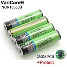 2020 המקורי מוגן 18650 NCR18650B 3400mAh נטענת li lon סוללה עם PCB 3.7V עבור פנס