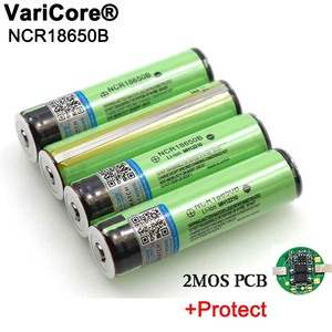 Image 1 - 2020 Protected Original 18650 NCR18650B 3400mAh Rechargeable Li lon battery with PCB 3.7V For Flashlight